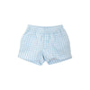 Sheffield Shorts - Buckhead Blue Gingham with Bellport Butter Yellow Stork