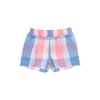Sheffield Shorts - Charleston Charming Plaid with Periwinkle Stitching