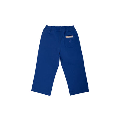 Sheffield Pants - Rockefeller Royal Blue with Multicolor Stork