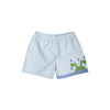 Shelton Shorts - Buckhead Blue with Frog Applique