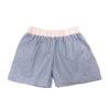 Shelton Shorts - Blue Oxford Stripe with Plantation Pink Oxford