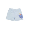 Shelton Shorts - Buckhead Blue with Elephant Applique