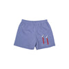 Shelton Shorts - Rockefeller Royal Micro Gingham with Seagull Applique