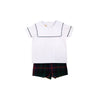 Shepherd Short Set - Worth Avenue White with Horse Trail Tartan