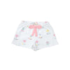 Shipley Shorts with Bow - Sweet Pea Scribbles with Sandpearl Pink