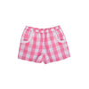 Shirley Shorts - Hamptons Hot Pink Chattanooga Check with Worth Avenue White Eyelet