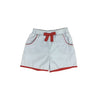 Shirley Shorts - Buckhead Blue with Richmond Red