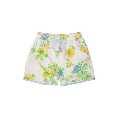 Shirley Shorts - Marietta Morning Glory with Buckhead Blue