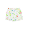 Shirley Shorts - Dallas Daffodils with Worth Avenue White
