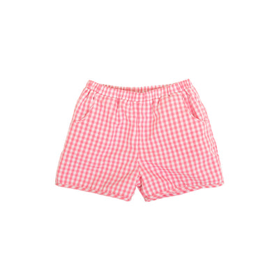 Shirley Shorts - Hamptons Hot Pink Gingham