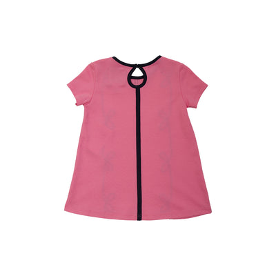 Short Sleeve Daisy Dress - Hamptons Hot Pink with Nantucket Navy