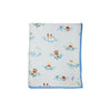 Silent Night Nursery Throw - Doggy Paddle with Sunrise Blvd. Blue