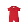 Sir Proper's Romper - Richmond Red with Park City Periwinkle Stork