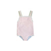 Sisi Sunsuit - Palm Beach Pink with Buckhead Blue and Rainbow Row Stripe