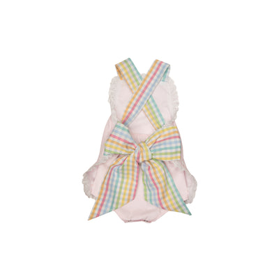 Sisi Sunsuit - Plantation Pink with Old Preston Plaid