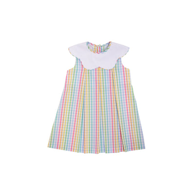 Sleeveless Frenchy Frock - Old Preston Plaid with Worth Avenue White