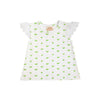 Sleeveless Polly Play Shirt - Old Town Tulip with Worth Ave White Eyelet