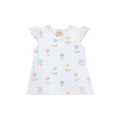 Sleeveless Polly Play Shirt - Sweet Pea Scribbles