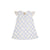 Sleeveless Polly Play Dress - Bamboo Proverbs with White Eyelet Trim