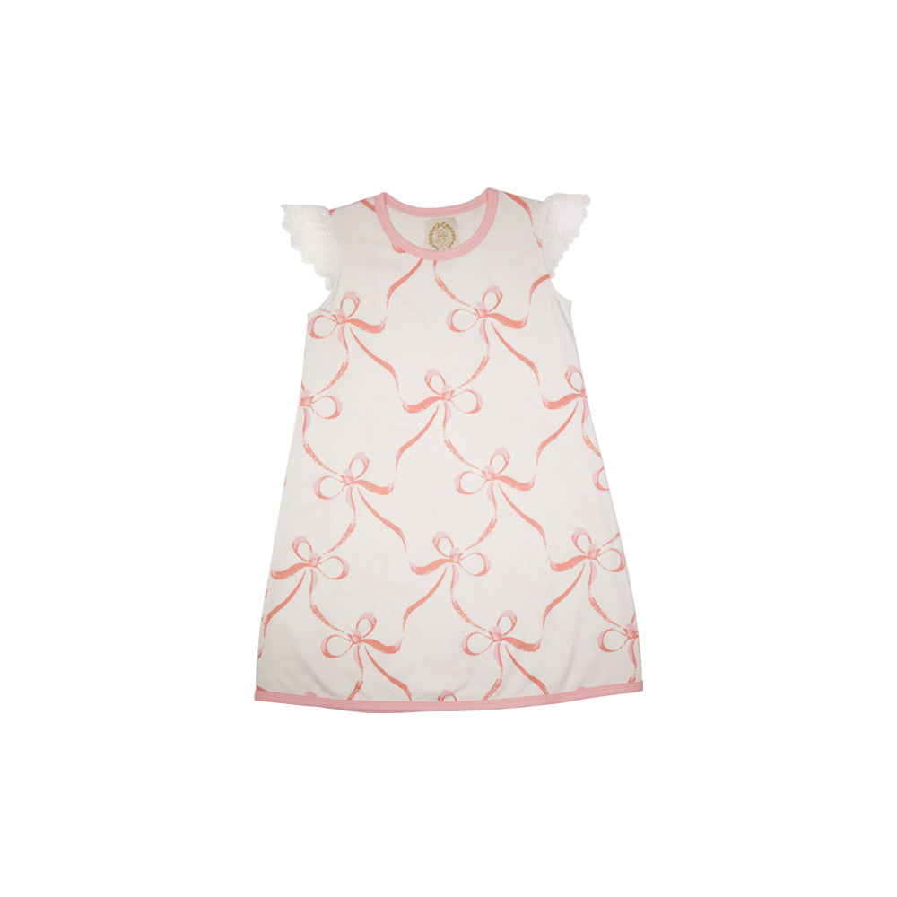 90c6796c4 Sleeveless Polly Play Dress - Bluffton Bows with Sandpearl Pink and ...
