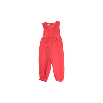 Sleeveless Rebecca Romper - Richmond Red with Party at Plymouth