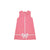 Sleeveless Reed's Ribbon Dress - Hamptons Hot Pink with Worth Avenue White Bow Applique