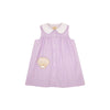 Sleeveless Tabitha's Teacher's Pet Dress - Lauderdale Lavender with Seashell Applique