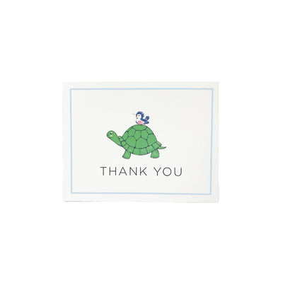 Thank You Cards - Slow & Steady with Blue Trim