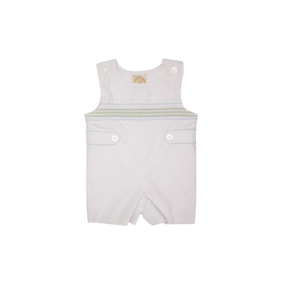 6a39fa79ea Snyder's Smocked Jon Jon - Worth Avenue White with Lexington Lime and  Buckhead ...