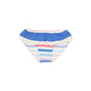 St. John's Swim Bottom/ Cover - Broad Street Stripe with Sunrise Blvd Blue