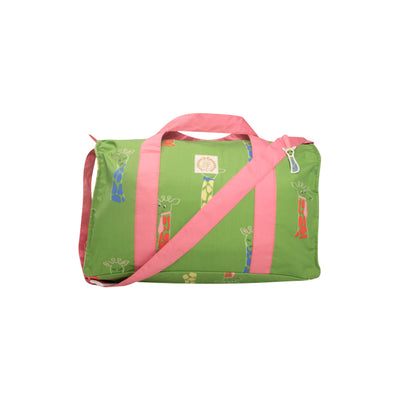 Stewart Sleepover Tote - Iveben Spotted with Hamptons Hot Pink