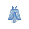 Stratford Scallop Swimsuit - Gull Play with Sunrise Blvd. Blue
