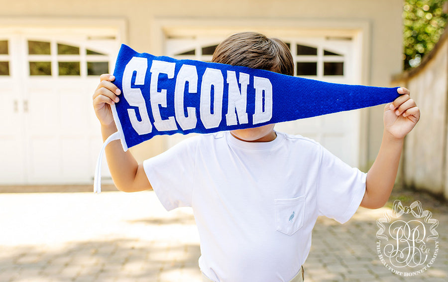 Back to School Pennant - Rockefeller Royal Blue Felt