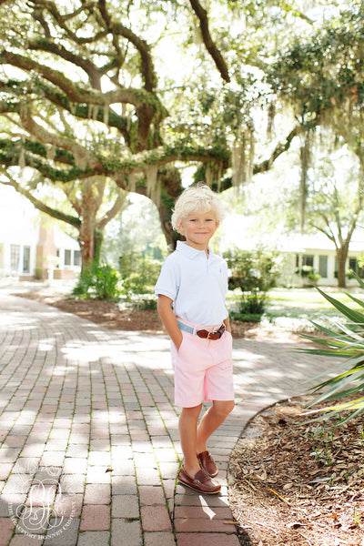 Charlie's Chinos - Plantation Pink with Buckhead Blue