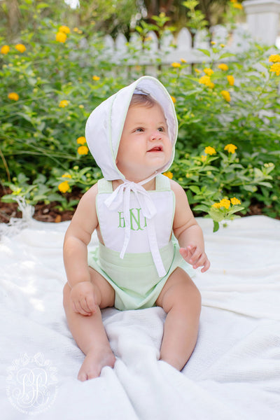 Sayre Sunsuit - Worth Avenue White with Marietta Mint Check