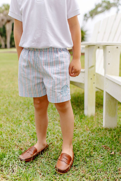 Shelton Shorts - Sir Proper's Signature Plaid with Park City Periwinkle Stork
