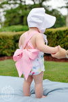 Sisi Sunsuit - Dallas Daffodils with Sandpearl Pink