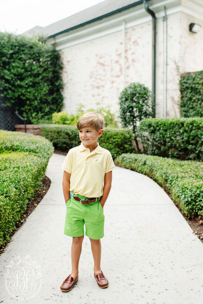 Prim and Proper Polo - Seaside Sunny Yellow with Grenada Green Stork