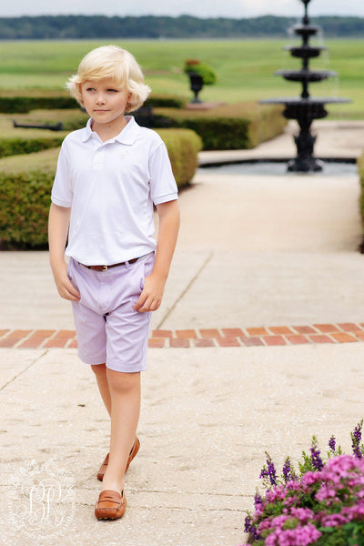 Charlie's Chinos - Lauderdale Lavender with Keeneland Khaki Stork