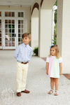 Prep School Pants - Seaside Sunny Yellow with Park City Periwinkle