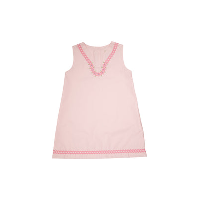 Taylor Tunic Dress - Plantation Pink with Embroidery