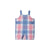 Teddy's Tab Jon Jon - Charleston Charming Plaid with Park City Periwinkle
