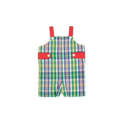 Teddy's Tab Jon Jon - Primary School Plaid with Richmond Red