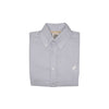 The Dean's List Dress Shirt - Buckhead Blue Micro Gingham with White Stork