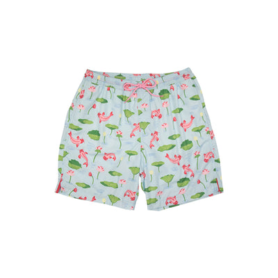 Toddy Trunks (Men's) - Cute & Koi with Hamptons Hot Pink