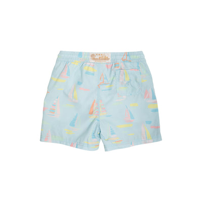 Tortola Swim Trunks - Sandyport Sailboats Blue