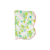 Tummy Time Throw - Marietta Morning Glory with Hamptons Hot Pink
