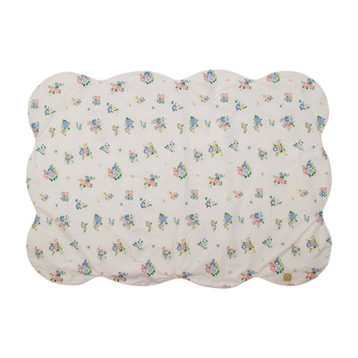 Tummy Time Throw - Biltmore Bouquet Blues