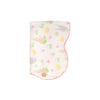 Tummy Time Throw - Old South Snapdragon with Sandpearl Pink