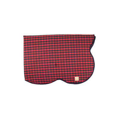 Tummy Time Throw - Pelham Manor Plaid with Nantucket Navy